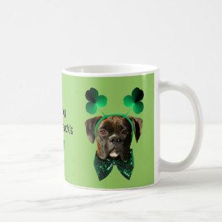 St. Patrick's Day Boxer Mug