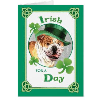 St. Patrick's Day Bulldog Card
