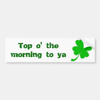 St Patrick's Day Bumper Sticker