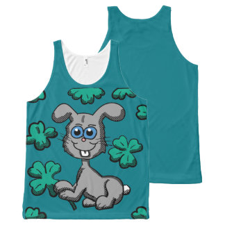St. Patrick's Day Bunny shirt All-Over Print Tank Top