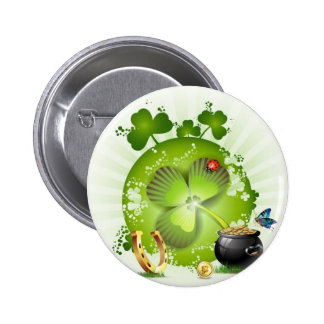 St Patricks Day Button