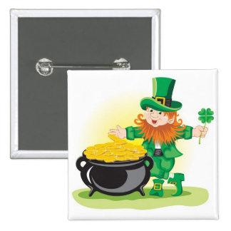 St Patricks Day Button
