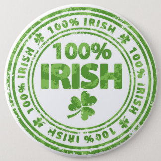 St Patrick's Day Button/Clovers 6 Cm Round Badge