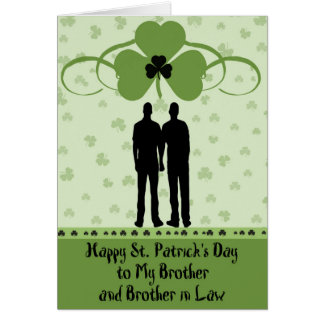 St. Patrick's Day Card,  Brother & Brother in Law Card