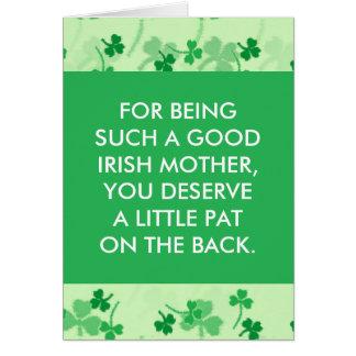 st patricks day card for mom