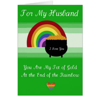 St. Patrick's Day Card - Husband
