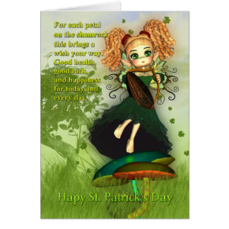 St. Patrick's Day Card - Shamrock Irish Fairy
