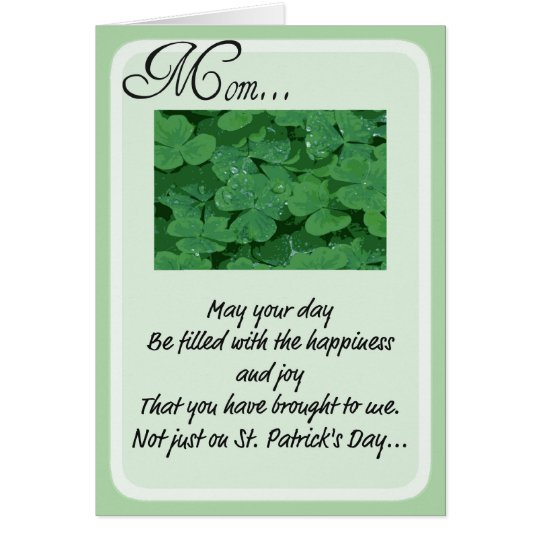 St. Patrick's Day  Cards for Mum