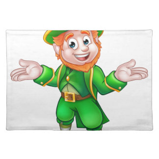 St Patricks Day Cartoon Leprechaun Placemat