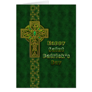 St. Patrick's Day - Celtic Cross Card
