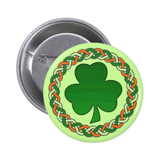 St. Patrick's Day celtic irish shamrock button