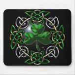 St. Patrick's Day Celtic knot design Mousemat