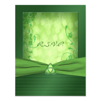 St. Patrick's Day Celtic Love Knot Reply Card 11 Cm X 14 Cm Invitation Card
