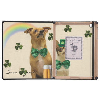 St. Patrick's Day Chihuahua dogs Cover For iPad