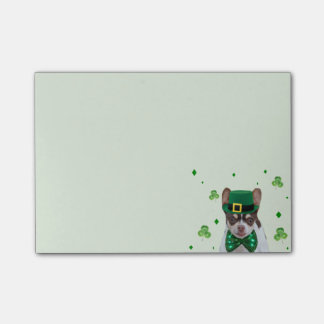 St. Patrick's Day Chihuahua post it notes