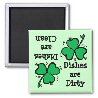 St. Patrick's Day  Clover Clean Dirty Diswasher Magnet