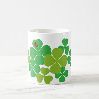 St. Patrick's Day Clover & Ladybug Mug