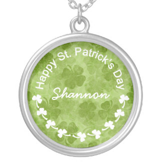 St Patrick's Day Clover Necklace
