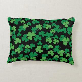 St. Patricks day clover pattern Decorative Cushion