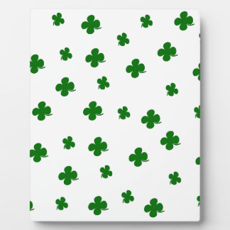 St. Patricks day clover pattern Display Plaques