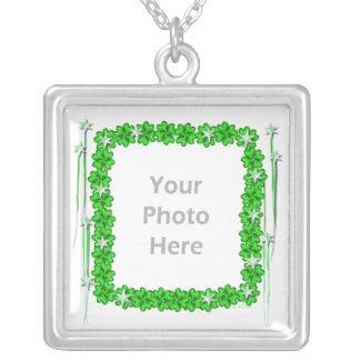 St Patricks Day Clover Stars photo frame Pendants