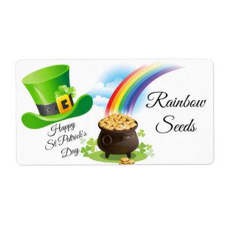 St Patrick's Day Craft Label Rainbow Seeds Blarney