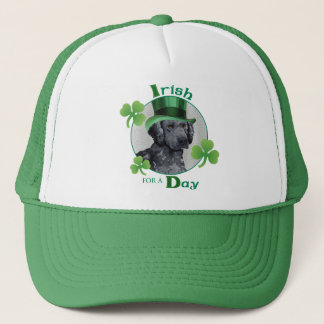 St. Patrick's Day Curly-Coated Retriever Trucker Hat