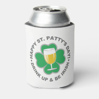 St. Patrick's Day custom monogram can cooler