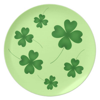 St Patricks Day | Cute shamrock design Plate