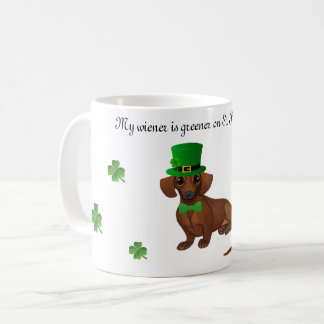 St. Patrick's Day Dachshund Coffee Mug