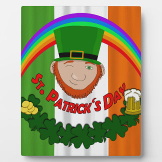 St. Patricks day Display Plaque