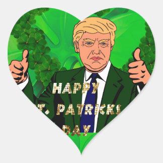 st patricks day donald trump heart sticker