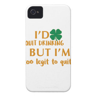 St Patrick's day drinking design Case-Mate iPhone 4 Case