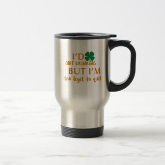 St Patrick's day drinking design Travel Mug