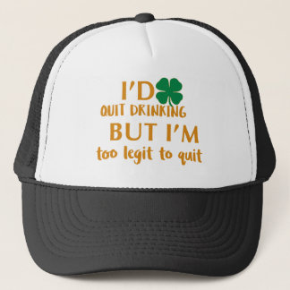 St Patrick's day drinking design Trucker Hat