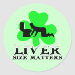 St Patrick's Day drinking Round Stickers