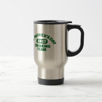 St. Patricks day drinking team 2017 Travel Mug