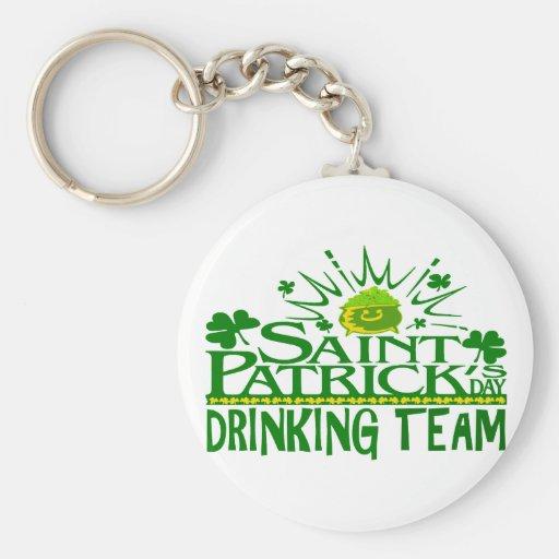 St Patricks Day Drinking Team. Irish Celebrations. Key Chains