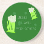 St Patricks Day Drinks Well Coaster