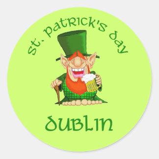 St Patrick's Day ~ Dublin Round Sticker