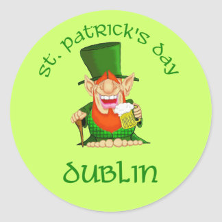 St Patrick's Day ~ Dublin Round Stickers