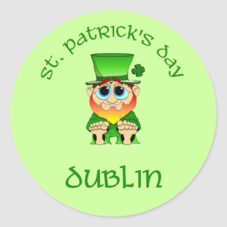 St Patricks Day ~ Dublin Round Sticker