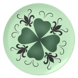 St Patricks Day   Elegant victorian shamrock Plate