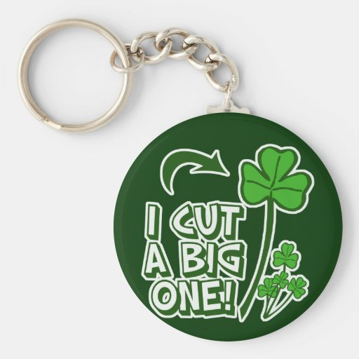 St Patrick's Day Farting Humor Keychain