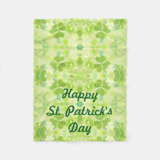 St Patrick's Day Fleece Lap Blanket for Wheelchair