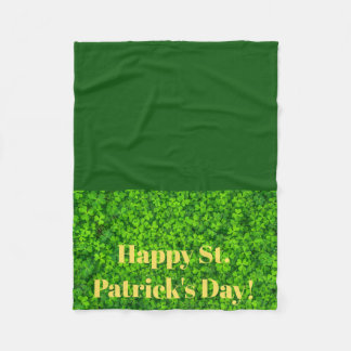 St Patricks Day Fleece Lap Blanket for Wheelchair
