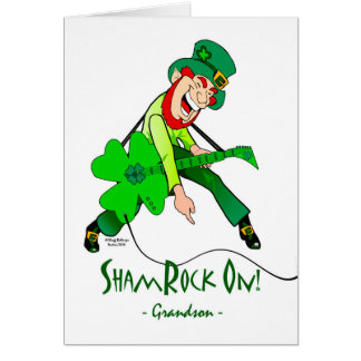 St. Patrick's Day for a Rock Star Grandson Card