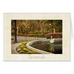 St Patrick's Day - Forsyth Fountain, Savannah, GA Greeting Cards