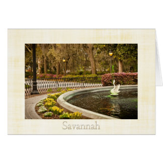 St Patrick's Day - Forsyth Fountain, Savannah, GA Card