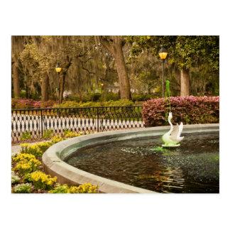 St Patrick's Day - Forsyth Fountain, Savannah, GA Postcards